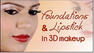 Foundations and Lipsticks in 3d makeup