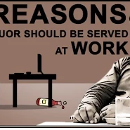 10 Reason Why Liquor should served at Office